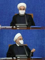 ماسک متفاوت رئیس جمهور در جلسه امروز هماهنگی اقتصادی دولت