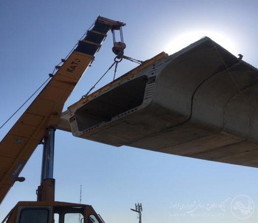 یکصد و هشتاد و هفتمین سگمنت در تقاطع غیر همسطح شهید کجباف نصب شد